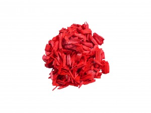 copeaux de bois rouge vif